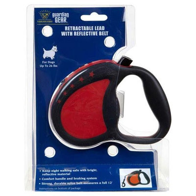 Petedge ZW943 91 83 GG Retractable Ld with Reflective Belt Lrg Red