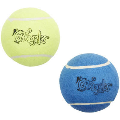 Pet Pals US173 05 Grriggles Classic Tennis Balls 5 In 2-Pkg