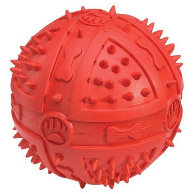 Grriggles Chompy Romper Ball Dog Toy RED