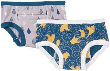 Kickee Pants Training Pants Set (Toddler/Kid) - Feather/Peacock - 1 ct.