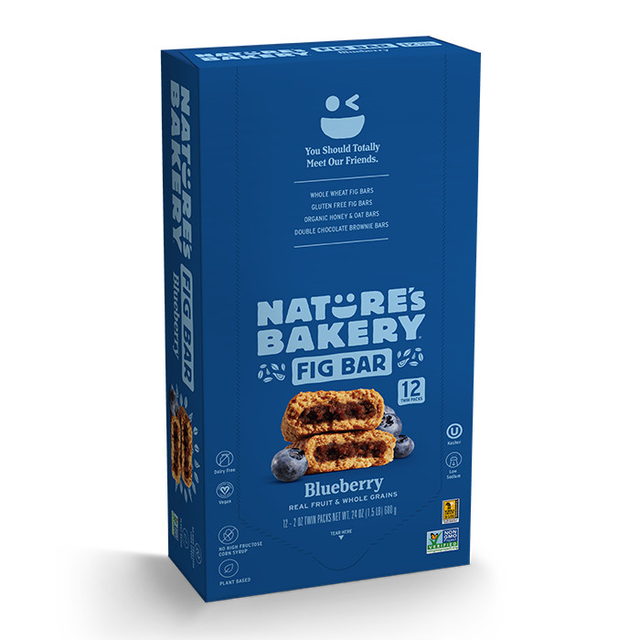 Natures Bakery's Whole Wheat Fig Bar Blueberry - 12 CT