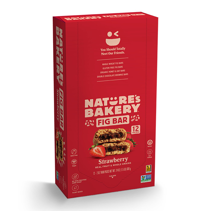 Nature's Bakery Whole Wheat Fig Bar - Raspberry - 2 oz - Case of 12