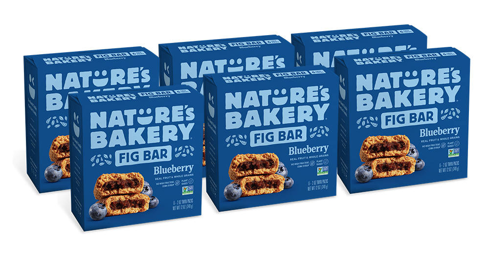 36 PACKS : Nature's Bakery Whole Wheat Fig Bar, Vegan + Non-GMO, Blueberry