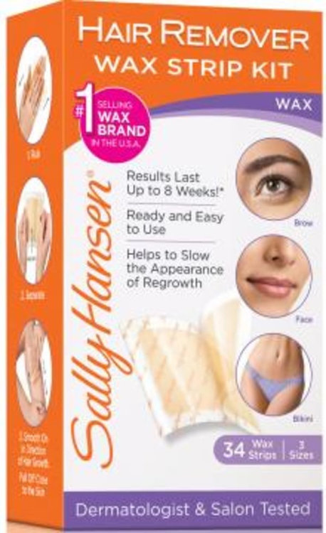 Sally Hansen® Hair Remover Wax Strip Kit for Face Reviews 2019