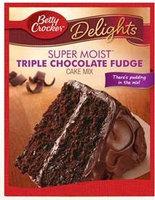 Betty Crocker™ Super Moist™ Delights Triple Chocolate Fudge Cake Mix