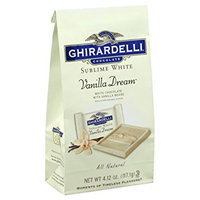 Ghirardelli Chocolate Sublime White Vanilla Dream Chocolate Stand Up Bag
