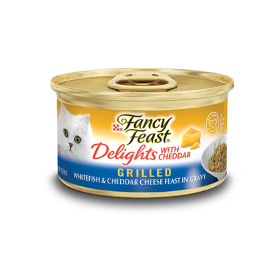 Fancy Feast® Delights With Cheddar Grilled Whitefish & Cheddar Cheese Wet Cat Food In Gravy