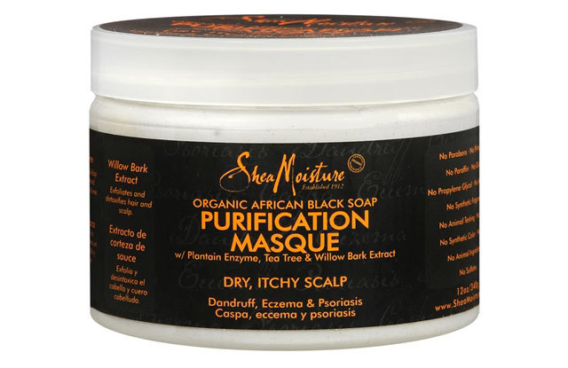 SheaMoisture Organic African Black Soap Purification Masque w/Plantain Enzyme Tea Tree & Willow Bark Extract