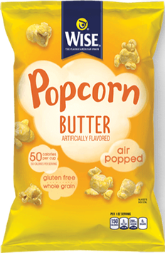 Wise Air Popped Gluten Free Whole Grain Butter Popcorn