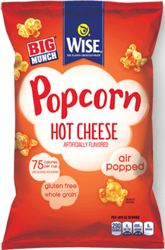 Wise Air Popped Whole Grain Hot Cheese Popcorn