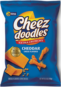 Wise Cheez Doodles Cheddar Cheese Flavored Extra Crunchy Corn Snacks