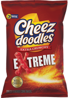 Wise Cheez Doodles Extra Crunchy Extreme Cheese Flavored Corn Snacks