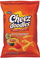 Wise Cheez Doodles Extra Crunchy Queso Habanero Cheese Flavored Corn Snacks