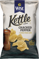 Wise Kettle Cooked Cracked Pepper Flavored Potato Chips
