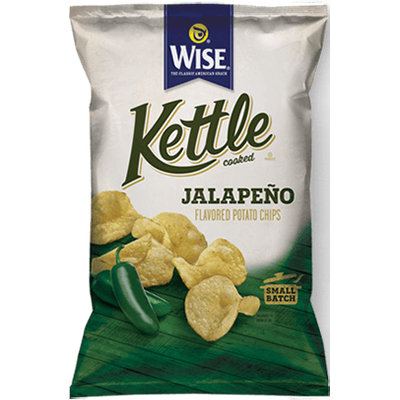 Wise Kettle Cooked Jalapeno Flavored Potato Chips