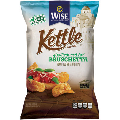 Wise Kettle Cooked Reduced Fat Bruschetta Flavored Potato Chips