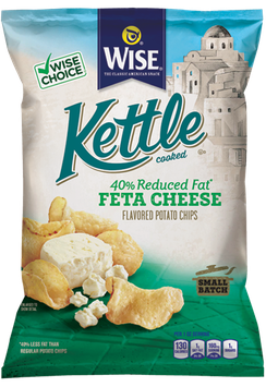 Wise Kettle Cooked Reduced Fat Feta Cheese Flavored Potato Chips