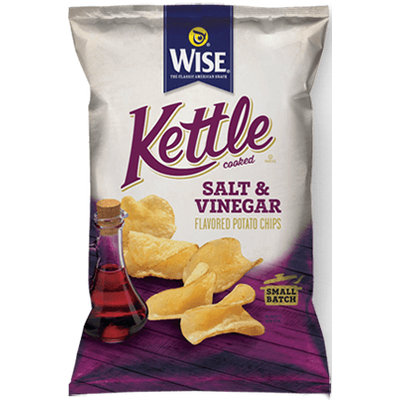 Wise Kettle Cooked Salt & Vinegar Flavored Potato Chips