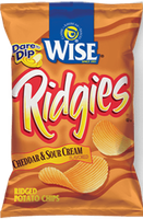 Wise Ridgies Cheddar & Sour Cream Flavored Ridged Potato Chips