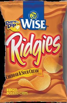 Wise Ridgies Cheddar & Sour Cream Flavored Ridged Potato Chips