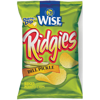 Wise Ridgies Dill Pickle Flavored Ridged Potato Chips