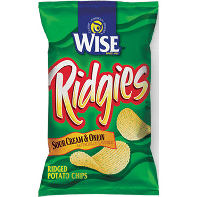 Wise Ridgies Sour Cream & Onion Flavored Ridged Potato Chips
