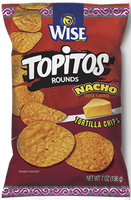 Wise Topitos Rounds Nacho Cheese Tortilla Chips