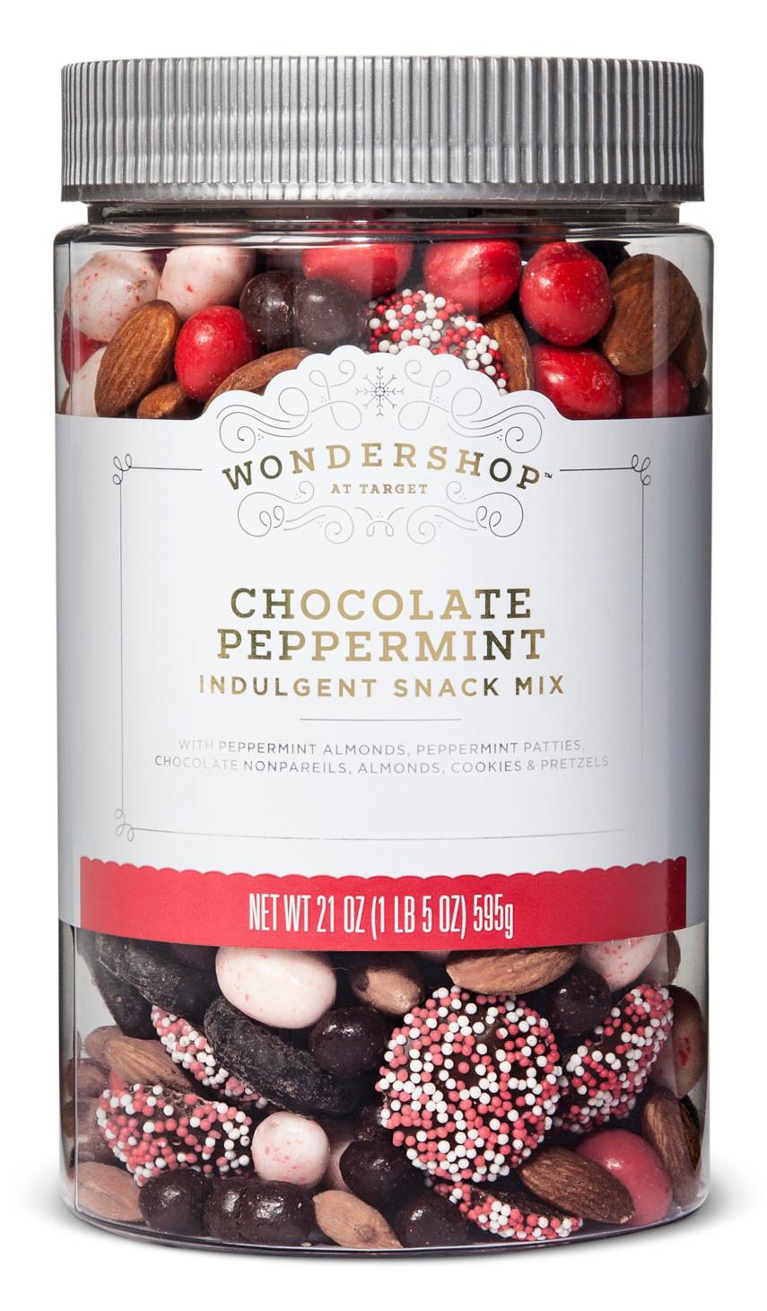 Wondershop™ Chocolate Peppermint Indulgent Snack Mix