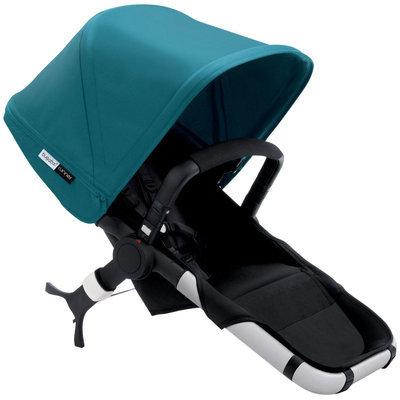 Bugaboo Runner Stroller Seat - Black/Petrol Blue - 1 ct.