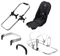 Bugaboo Donkey Duo 2015 Extension Set in Aluminum/Black