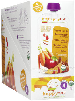 Happy Family happy tot Purees - Sweet Potato, Apple, Carrots & Cinn.
