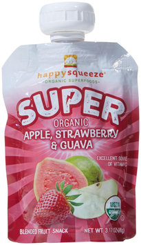 Happy Squeeze FRT SNCK, OG2, APL/STRW/GUA, (Pack of 4)