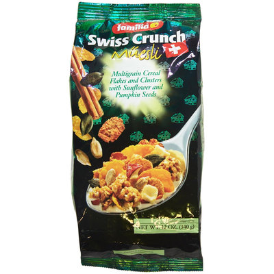 Familia Swiss Crunch Museli, Multigrain Flakes & Clusters with Sunflower & Pumpkin Seeds, 12 oz Bags