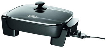 DeLonghi Electric Skillet with Tempered Glass Lid BG45
