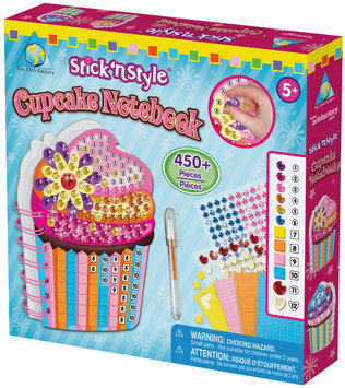 The Orb Factory Stick'n Style Cupcake Notebook
