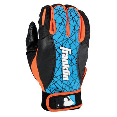 Franklin Sports MLB Youth 2nd Skinz Batting Glove - S - Black/Blue