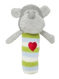 Elegant Baby Monkey Squeaky Rattle - 1 ct.