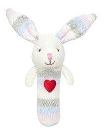 Elegant Baby Bunny Squeaky Rattle - 1 ct.