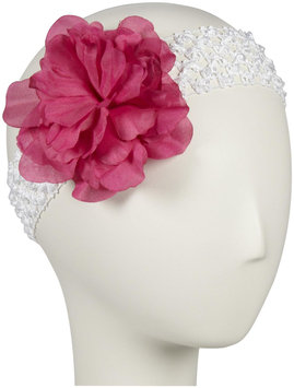 Elegant Baby Headband - Fuschia/White - 1 ct.