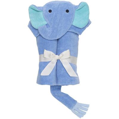 Elegant Baby Elephant Bath Wrap- Bright Blue