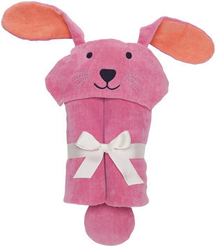 Elegant Baby Bunny Bath Wrap- Raspberry