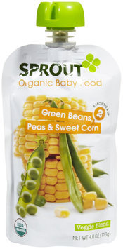 Sprout Foods Sprout Stage 2 Green Beans, Peas & Sweet Corn
