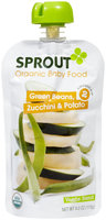 Sprout Foods Sprout Intermediate Organic Baby Food Green Bean, Zucchini & Potato - Stage #zCL