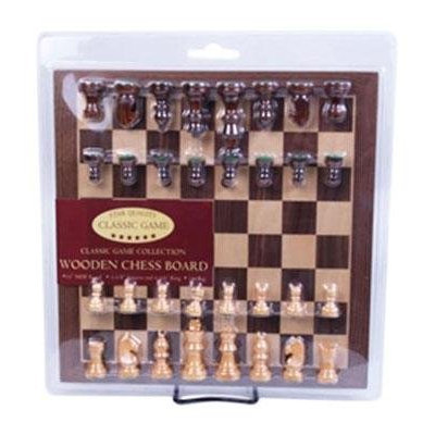 Classic Game Collection Classic Games Collection Wood Chess Set with Wood Chessmen and 2 1/2