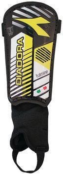 Diadora Fulmine Hard Shell Shinguards, Black/Fluo Yellow - Large