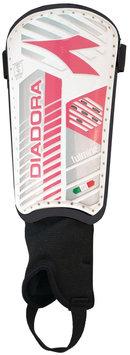 Diadora Fulmine Hard Shell Shinguards, White/Pink - Large