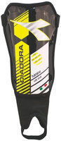 Diadora Fulmine Soft Shell Shinguards, Black/Fluo Yellow - Large