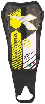 Diadora Fulmine Soft Shell Shinguards, Black/Fluo Yellow - Large