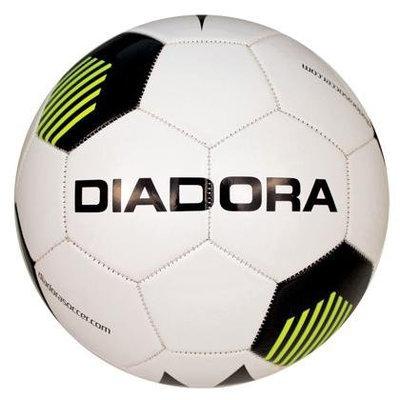 Diadora Evo Soccer Ball, White/Black/Yellow - Size 5