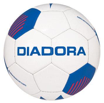 Diadora Evo Soccer Ball, White/Blue/Red - Size 4
